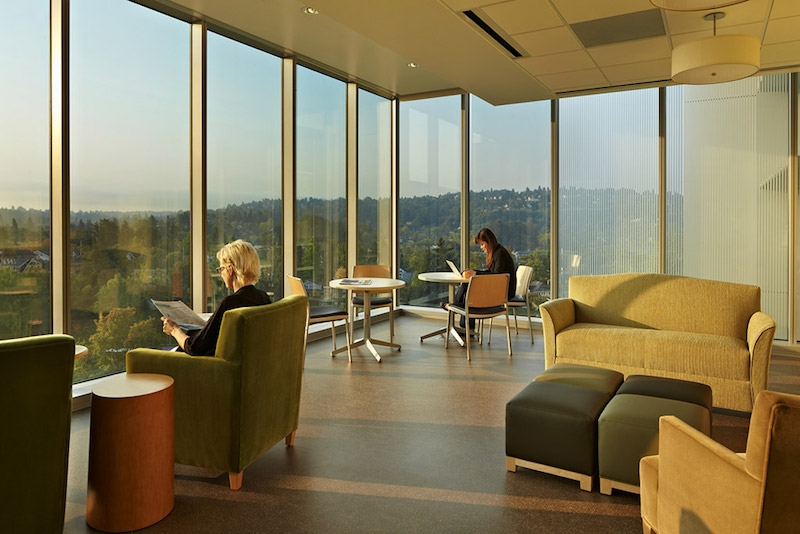 Staff lounge at the University of Washington Medical Center Montlake Tower