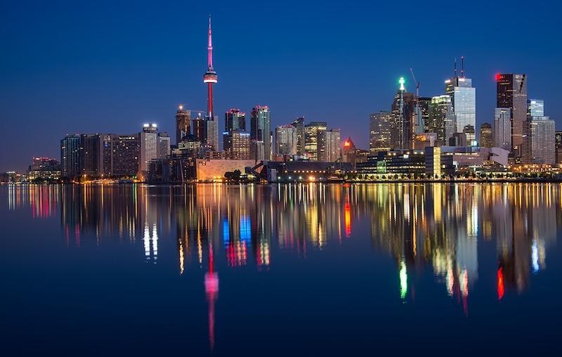 The Ontario skyline at night