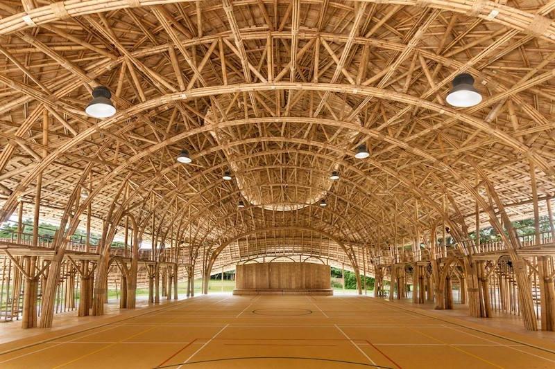 The inside of the Panyaden International School sports hall