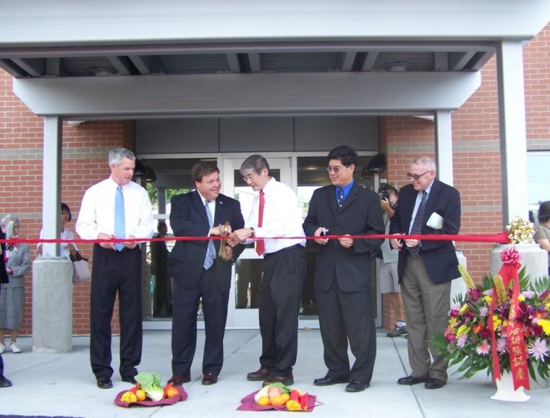 Ribbon Cutting: State Senator John Keenan, Mayor Thomas Koch, Board Member Dr. S