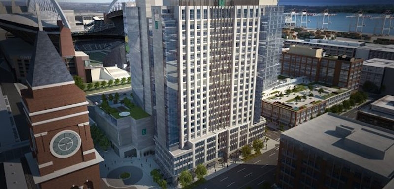 The new Embassy Suites in Pioneer Square