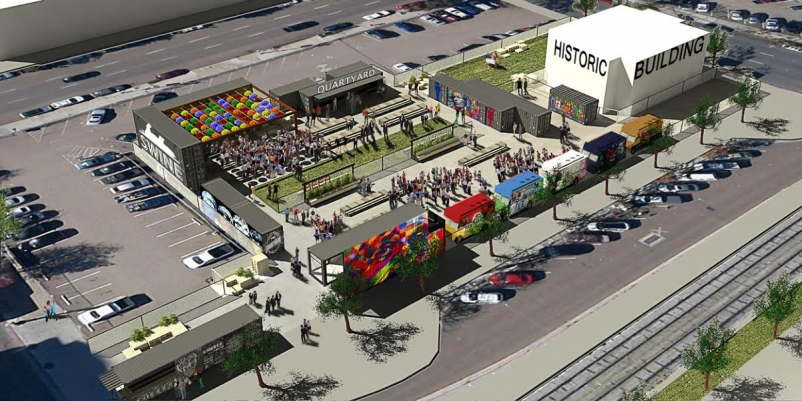 Architects look to 'activate' vacant block in San Diego with shipping container-based park