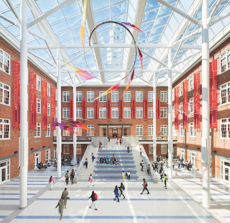 The Roosevelt Senior High School atrium