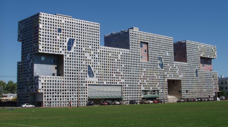 MIT's Simmons Hall, designed by Steven Holl