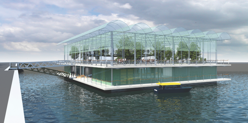 Merwehaven Harbor in Rotterdam will be home to the world's first floating farm.