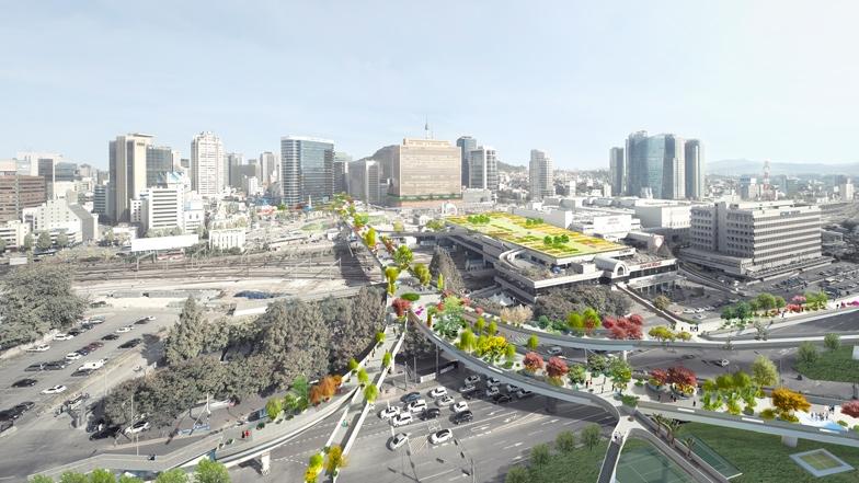 MVRDV Selected to Design High-Line Inspired Park 'Seoul Skygarden'
