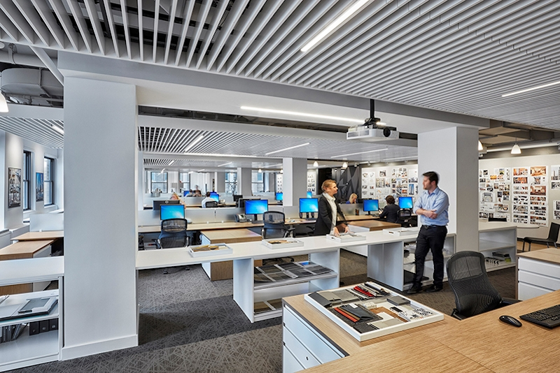 Employees in the new Stantec office in Midtown Manhattan