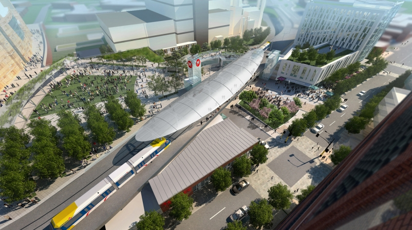 , The Interchange is expected to become the new central station square for Min