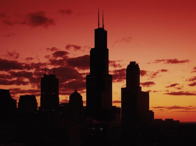 The Willis Tower at sundown