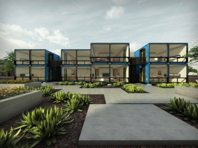 Containers on Grand A new apartment complex in Phoenix & Phoenix apartment complex will be made from recycled shipping ...