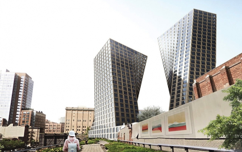 BIG unveils new renderings for NYC towers at 76 Eleventh Avenue