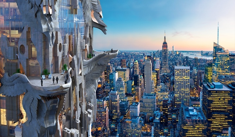 architect mark foster gage proposes wildly ornate gothic skyscraper