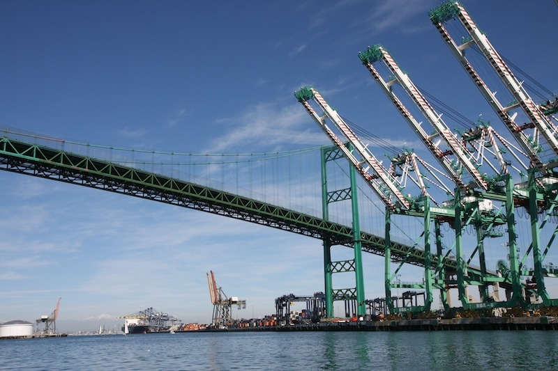 Bridge near Port of Long Beach