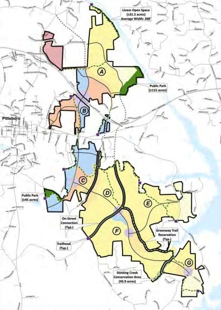 Chatham Park plan, courtesy Pittsboro.gov