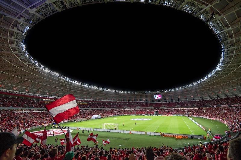 Crowd in a stadium