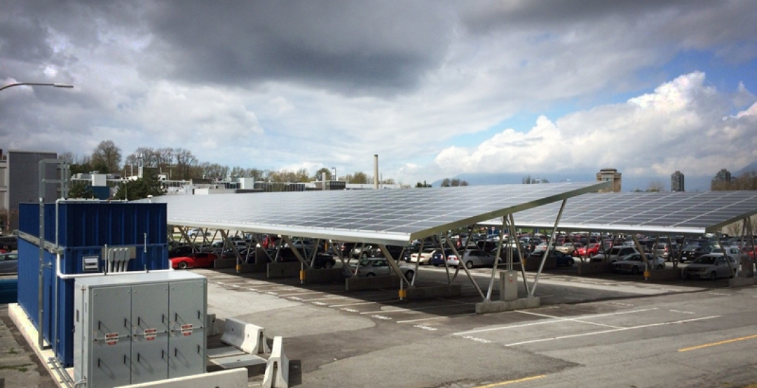 Parking with a purpose: clean cars and solar power shape new structure