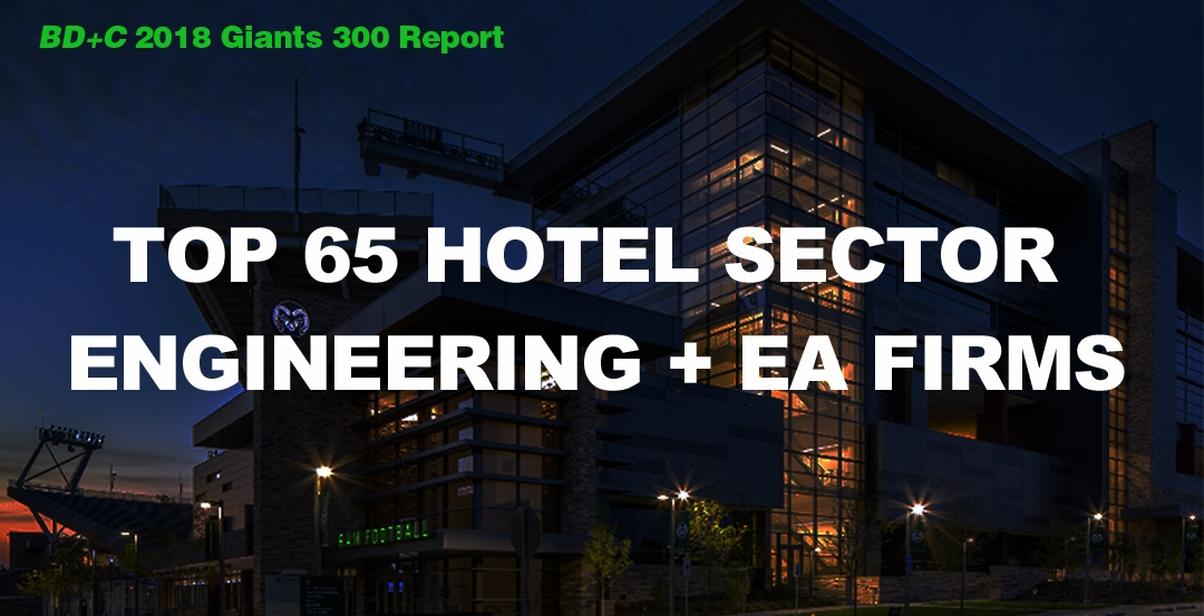 Top 65 Hotel Sector Engineering + EA Firms [2018 Giants 300 Report]