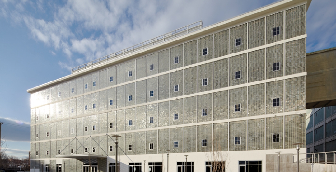 The Building Team preserved more than 65,000 glass blocks, which, if laid end to