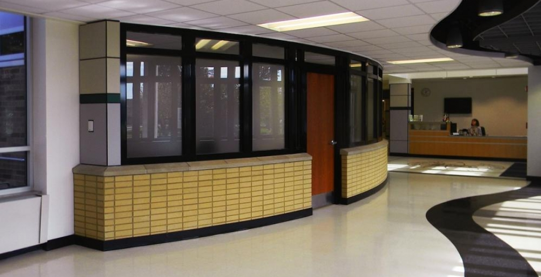 For a recent renovation of a stairwell and exit corridors at Ridgewood High Scho