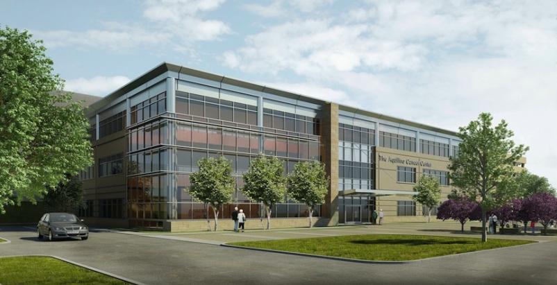 The Aquilino Cancer Center on the Shady Grove Adventist Hospital campus is slate