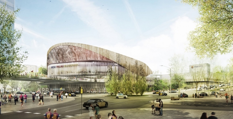 "Barcelona hoops arena will rattle opponents with ""wall"" of raucous fans"