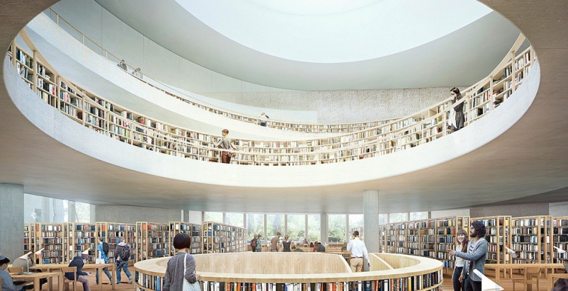 New renderings released for Herzog & de Meuron's National Library of Israel