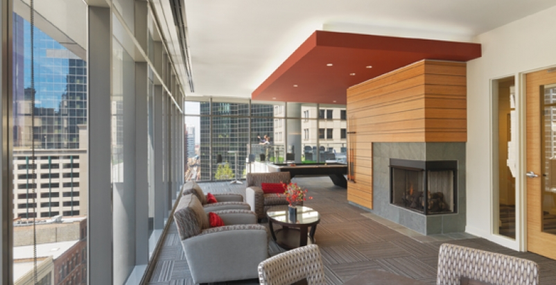Oakwood 200 Squared, Chicago, a 43-story rental high-rise with 10,000 sf of reta
