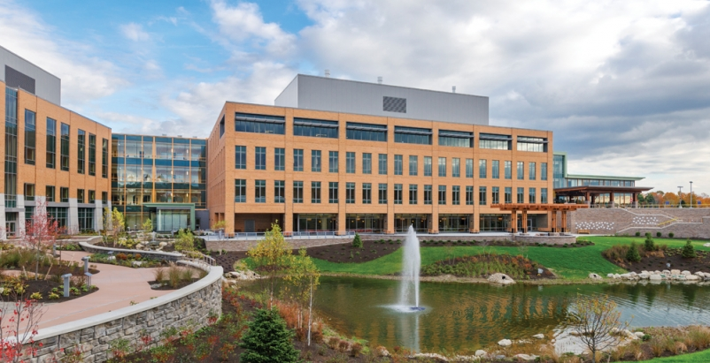 The Alfond Center for Health, Augusta, Maine, uses massing to create a Village