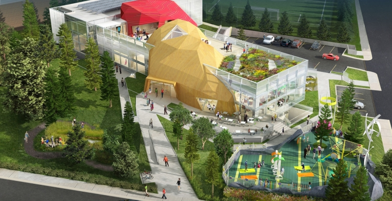 Embodying the theme little mountains, the 35,000-sf museum will be located in