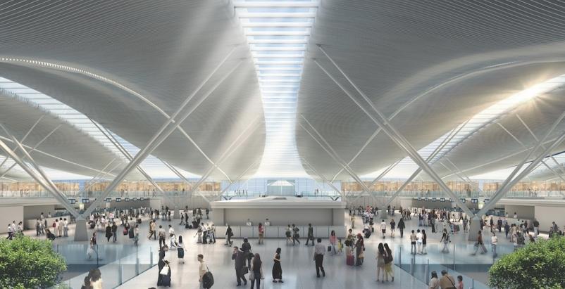 Passenger terminal at Hong Kong