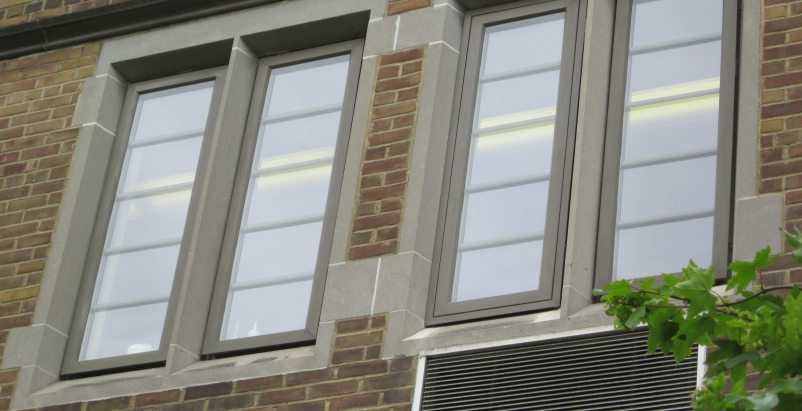 The newly installed windows offered an unexpected benefit for those who work in