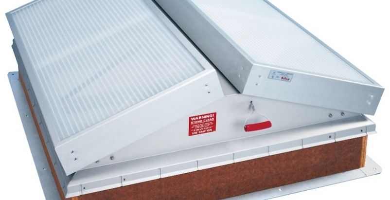 Fire vent promotes safety with daylighting benefits