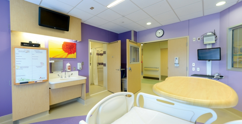 Rooms at Childrens Medical Center in Dallas were designed for universal patient