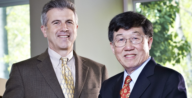 Architects Lee A. Casaccio, AIA, LEED AP, and George Yu, AIA, share leadership o
