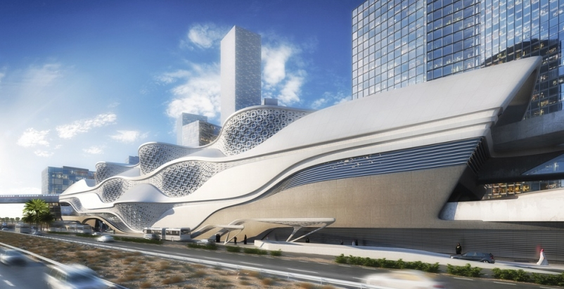Riyadh Metro Station, designed by Zaha Hadid Architects, with engineering servic