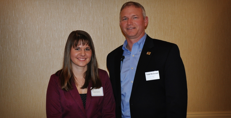 Emily Harlow and CSM Group President Todd McDonald.