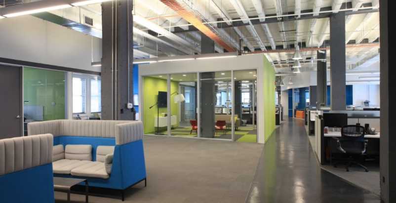 Emmi Solutions LLCs new corporate headquarters in Chicagos West Loop.