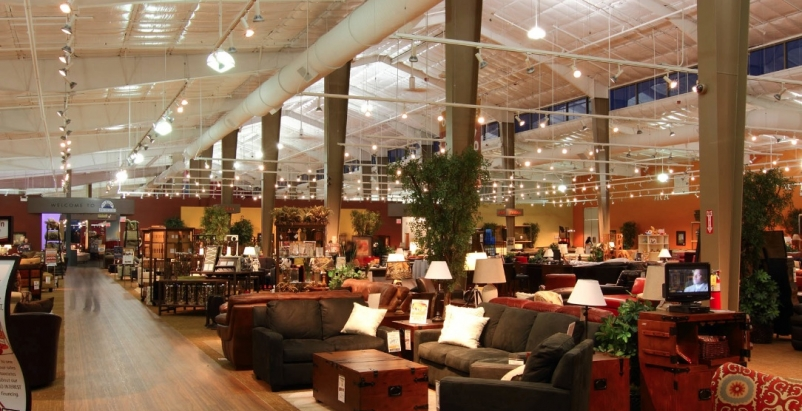 The Furniture Row retail center in Charlotte, N.C., provides a single destinatio