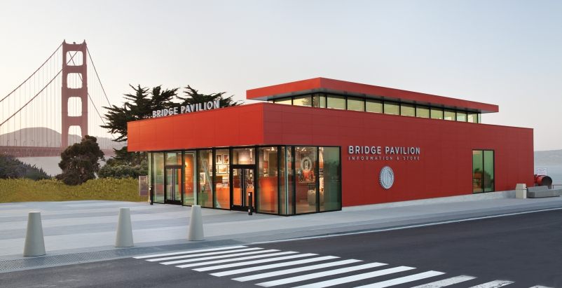 The Golden Gate Bridge Pavilion marks the famous bridge's 75 years.