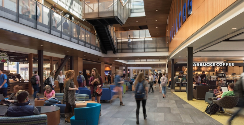 Gonzaga's new student center is bustling social hub
