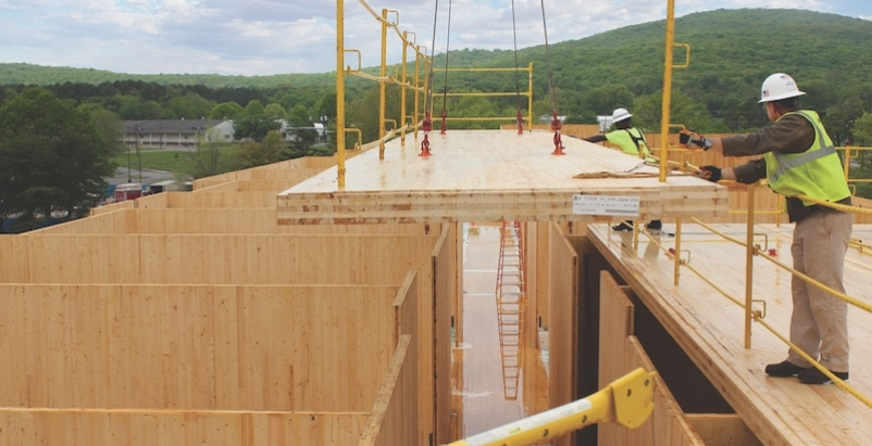 Military giants cross laminated timber construction gets