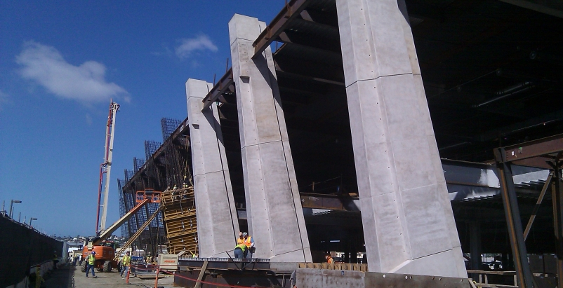 Bomel Construction Co. recently completed the structural concrete phase of the l