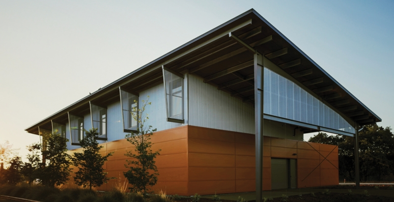 The 8,500-sf Jackson Sustainable Winery Building at the University of California