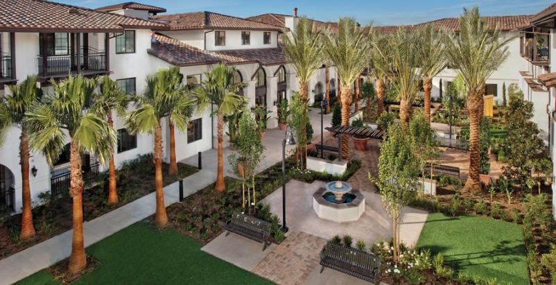 Dana Strand Senior Apartments, a 100-unit New Urbanism complex in Los Angeles, d