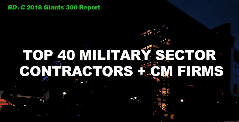Top 40 Military Sector Contractors + CM Firms [2018 Giants 300 Report]