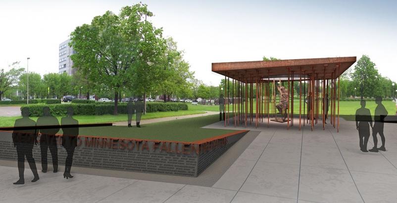 The 6,000-square-foot Minnesota Fallen Firefighters Memorial incorporates severa