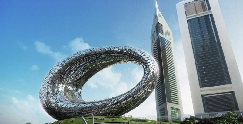 A giant, silver loop in Dubai will house the Museum of the Future