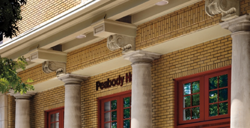 Originally the Elephant House at the St. Louis Zoo, Peabody Hall was renovated i