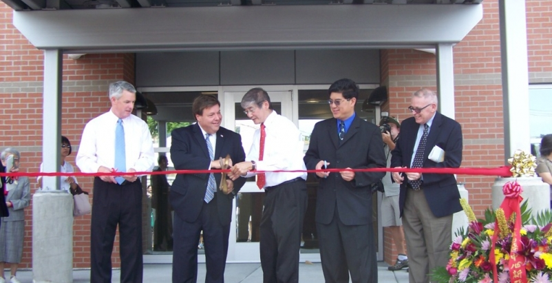 Ribbon Cutting: State Senator John Keenan, Mayor Thomas Koch, Board Member Dr. S