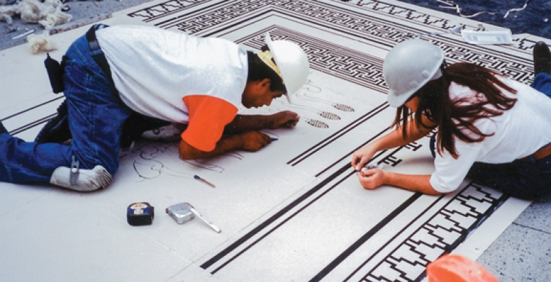 Decorative concrete is growing in popularity for both interior and exterior appl